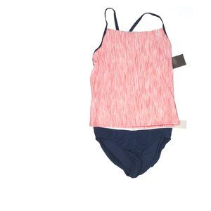 Nike Navy Blue and Pink Two Piece Set Tankini. M